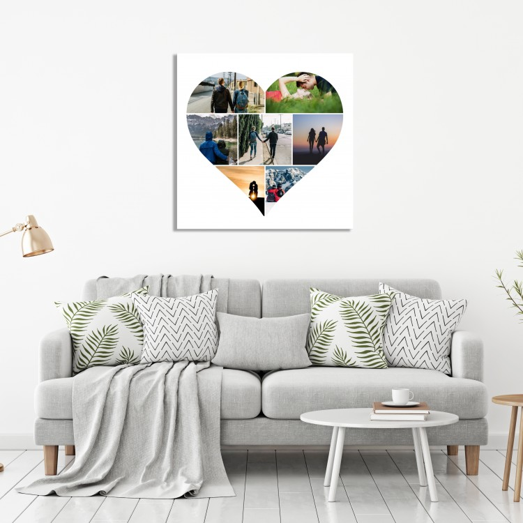 Heart Seven Image Canvas