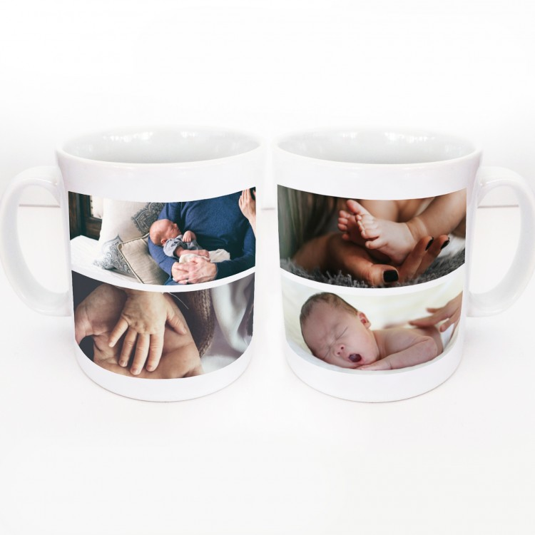 4 Photo Collage Wrap around Mug