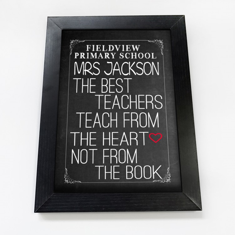 Chalkboard Typography Poster