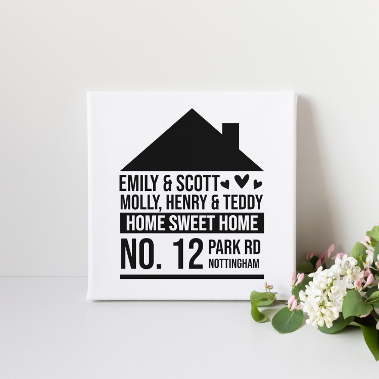 Home Typography Canvas - Square