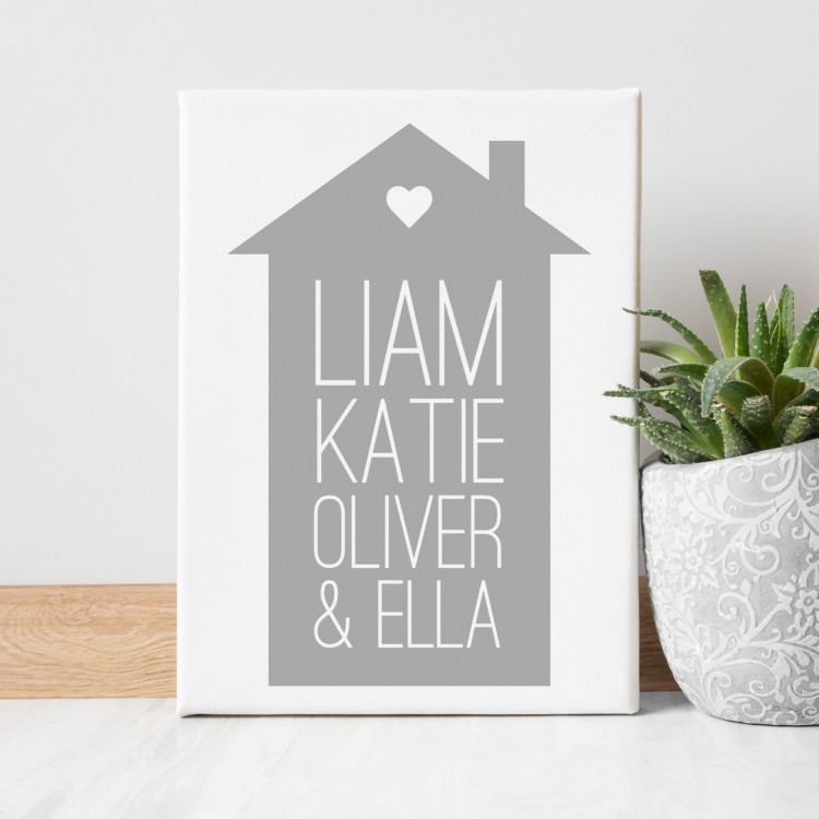 Home Typography Canvas