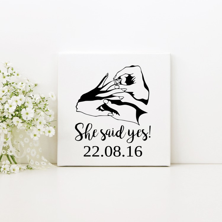 Engagement - Square Typography Canvas
