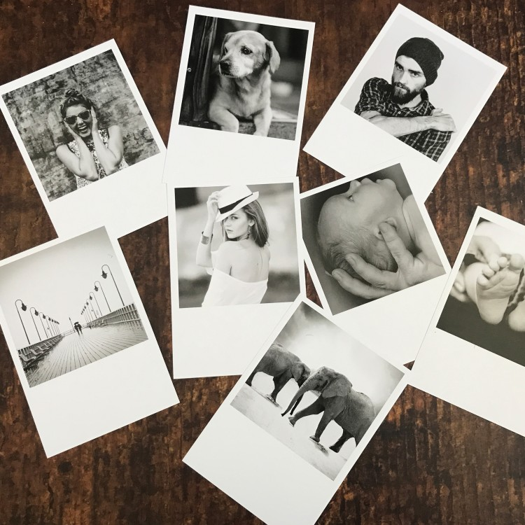 Utra Thick Retro Photo Print Cards - Pack Of 8