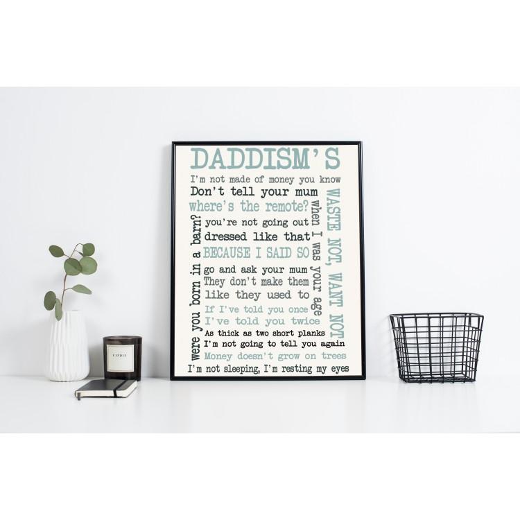 Sayings Typography Poster Gift
