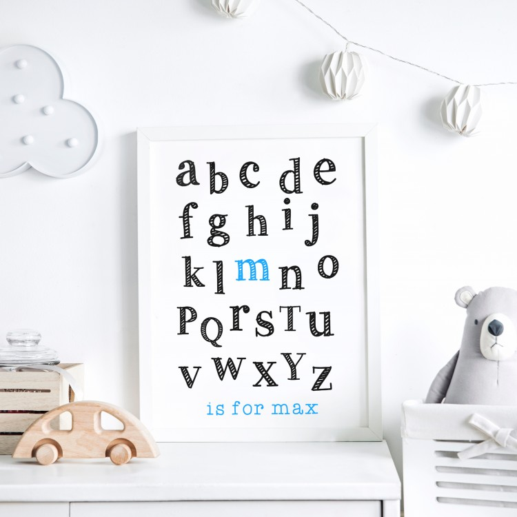 Kids Alphabet Name Typography Poster