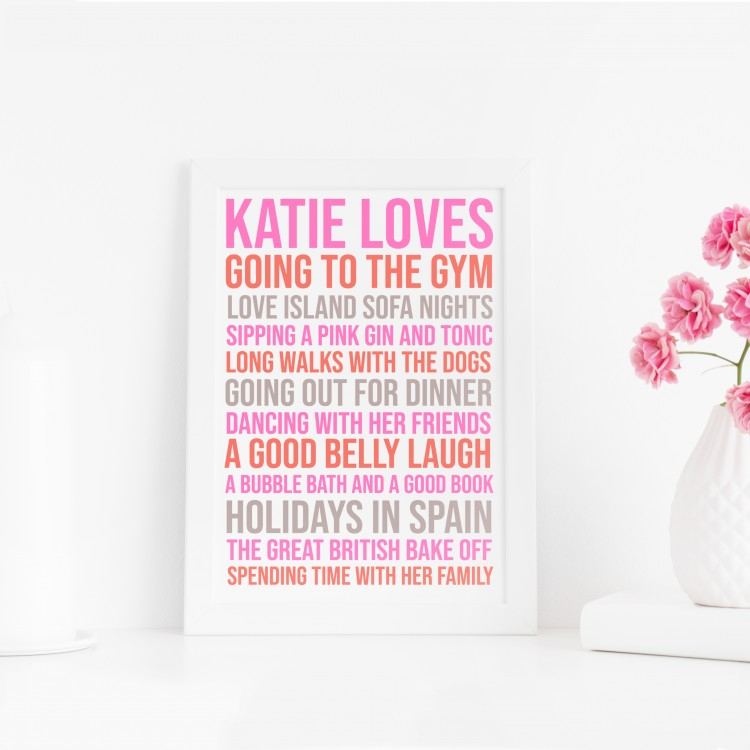 Loves Typography Poster