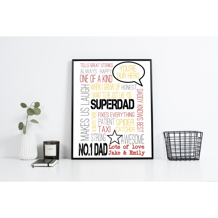 Super Dad Typography Poster