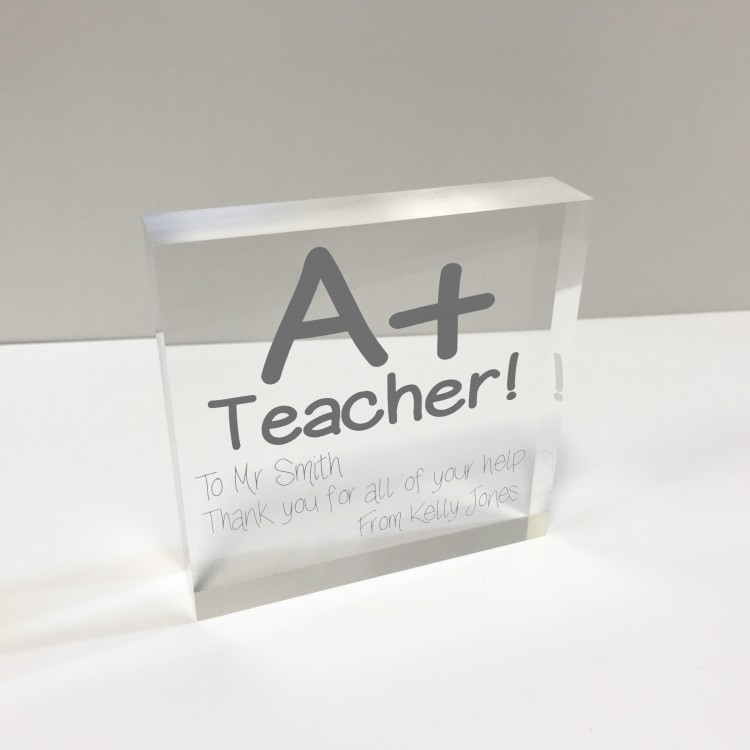 4x4 Glass Token - Teacher
