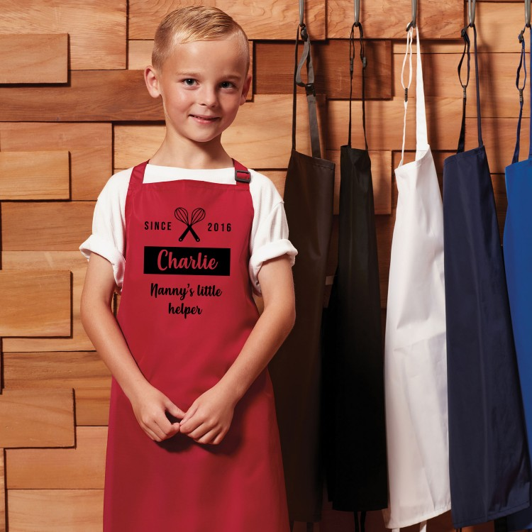 Personalised Apron Child - Red