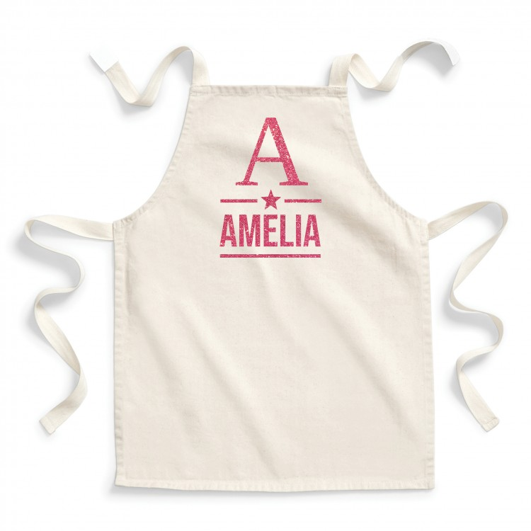 Personalised Apron Child - Natural cotton