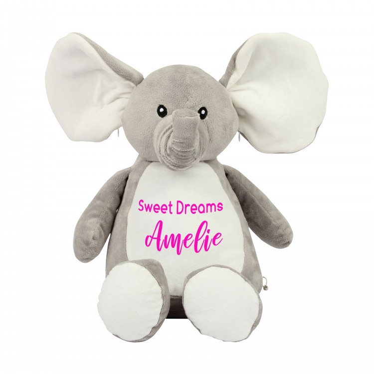 Personalised Elephant Zippie