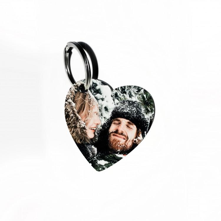Photo Keyring- Wooden Heart