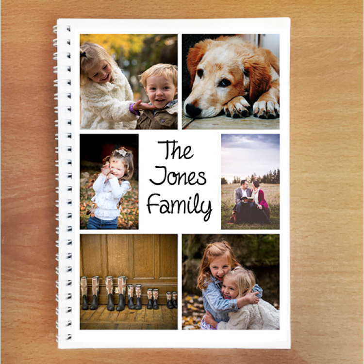 Personalised Photo Notebook - 6 Photos Family