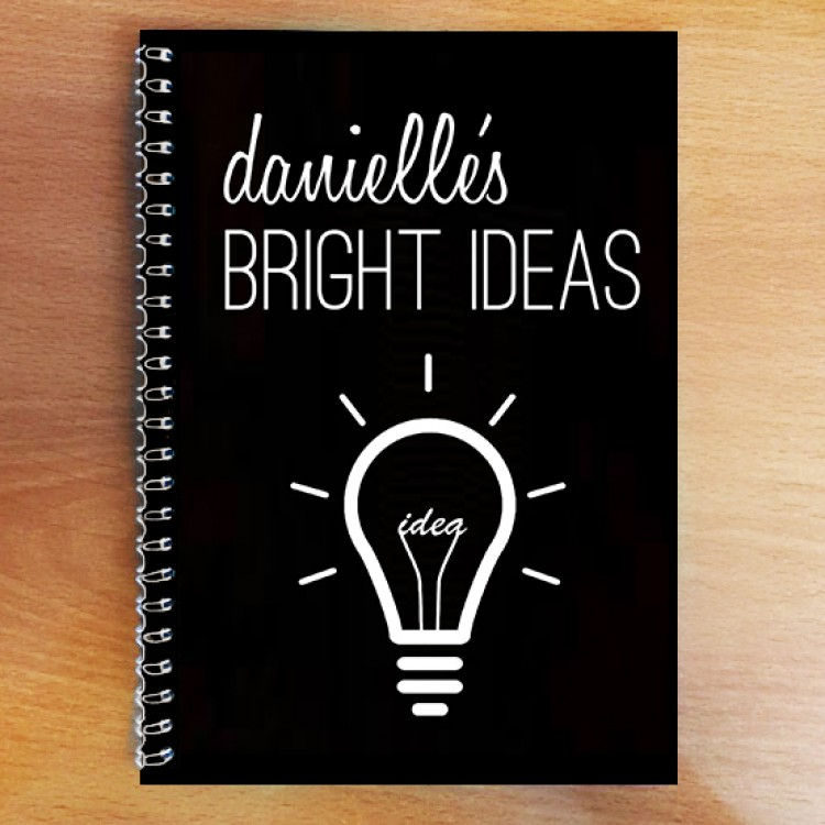 Personalised Photo Notebook - Bright Ideas A4