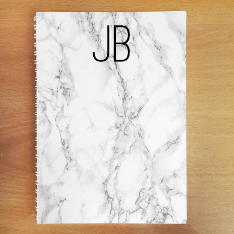 Personalised Photo Notebook - White Marble