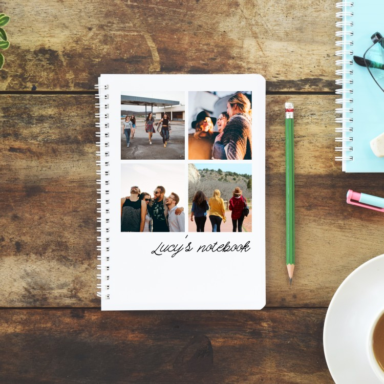 Personalised Photo Notebook - 4 Photos A4