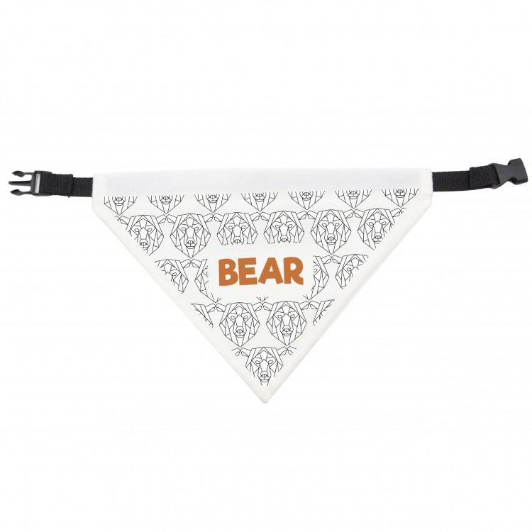 Dog Bandana Bear Design