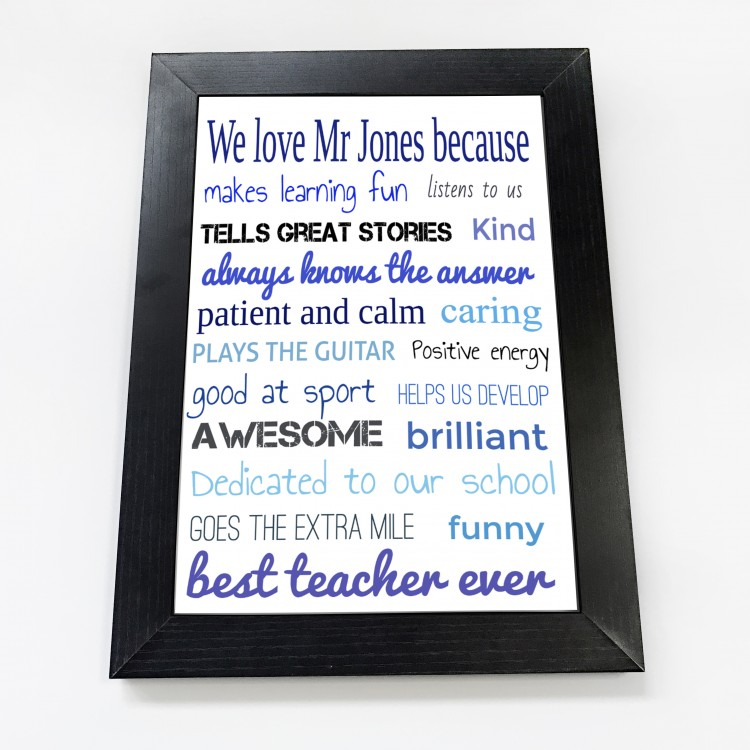 We love our teacher Typography Poster