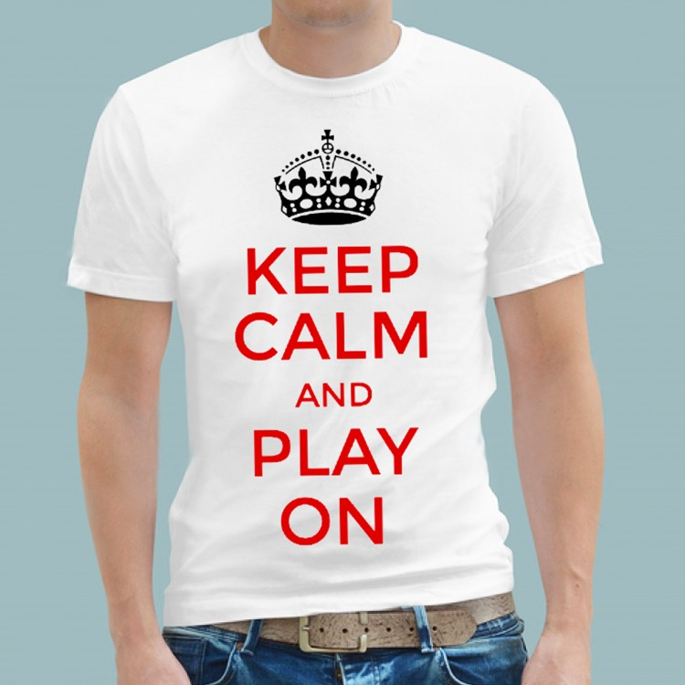 T Shirt - Football Keep Calm