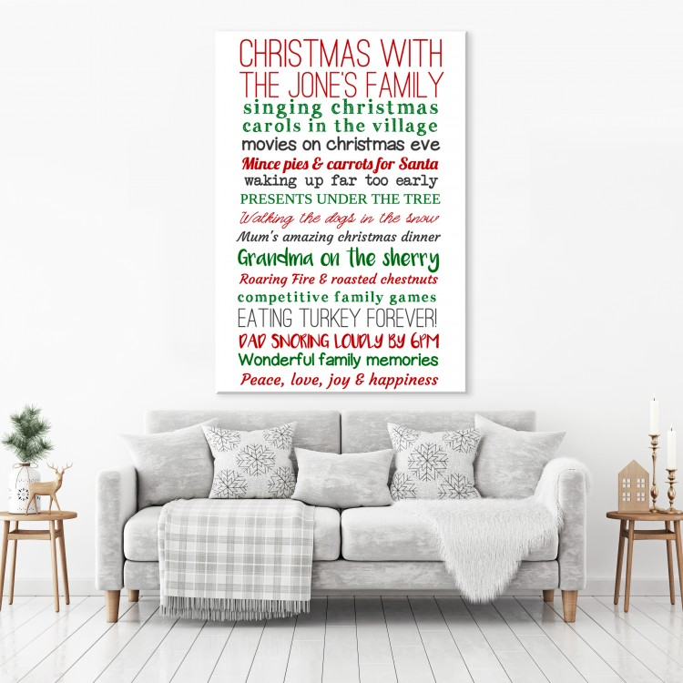 Christmas  Typography Canvas
