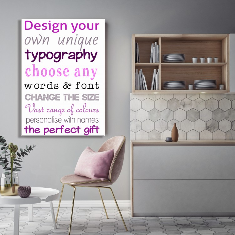 Design Your Own Typography Canvas - White