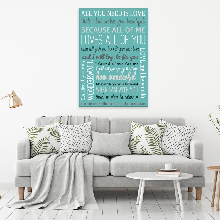 Song Lyrics  - Typography Canvas