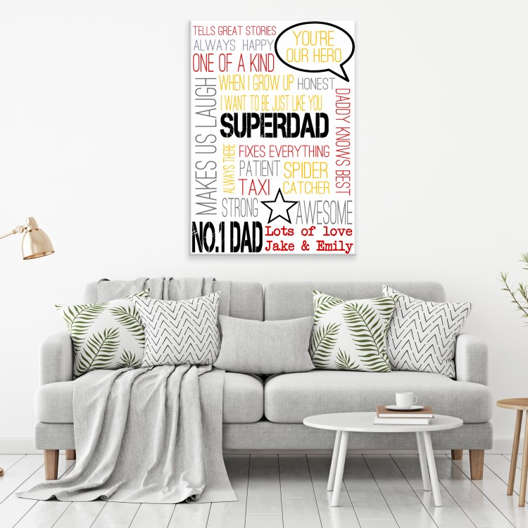 Super Dad Typography Canvas