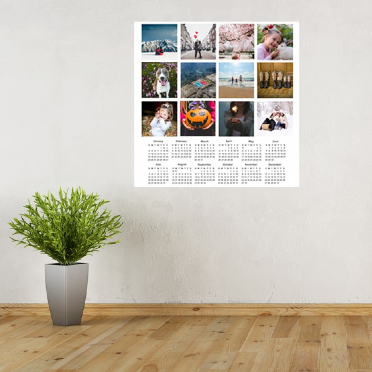 Vinyl Wall Art - Add Your Photos - Calendar