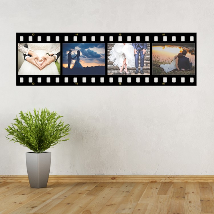 Vinyl Wall Art - Add Your Photos - Movie Strip