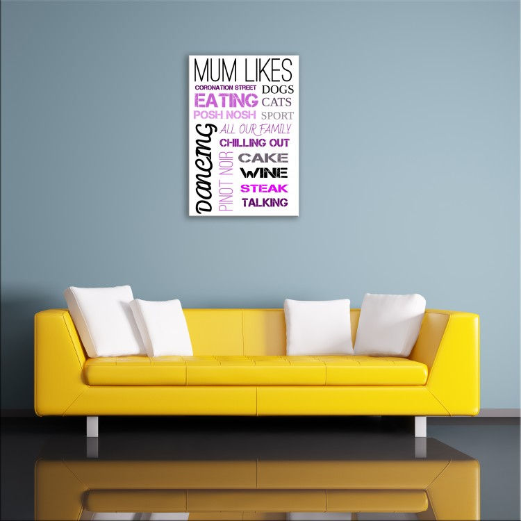 'Mum Likes'  Typography Canvas