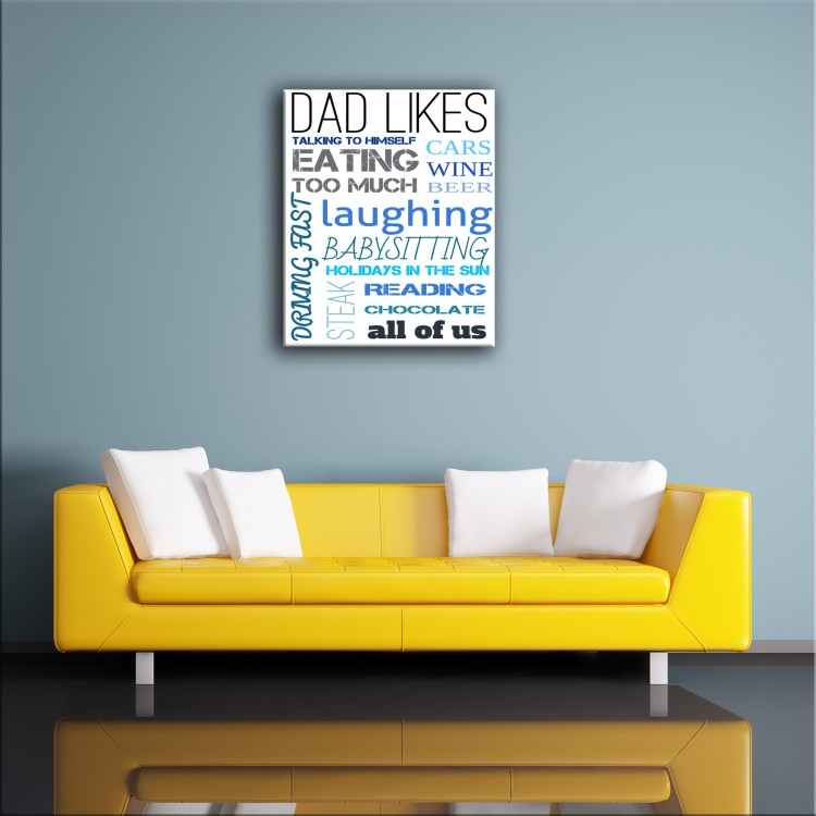 'Dad Likes'  Typography Canvas