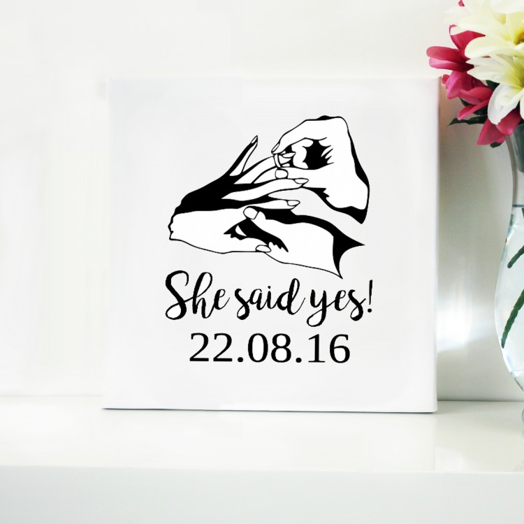 Engagement Typography Canvas