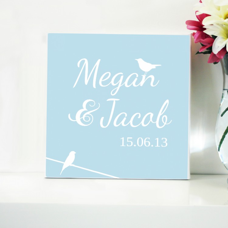 Love birds Typography Canvas