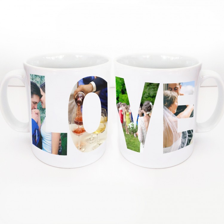 Wrap Around LOVE Mug 4 Photos