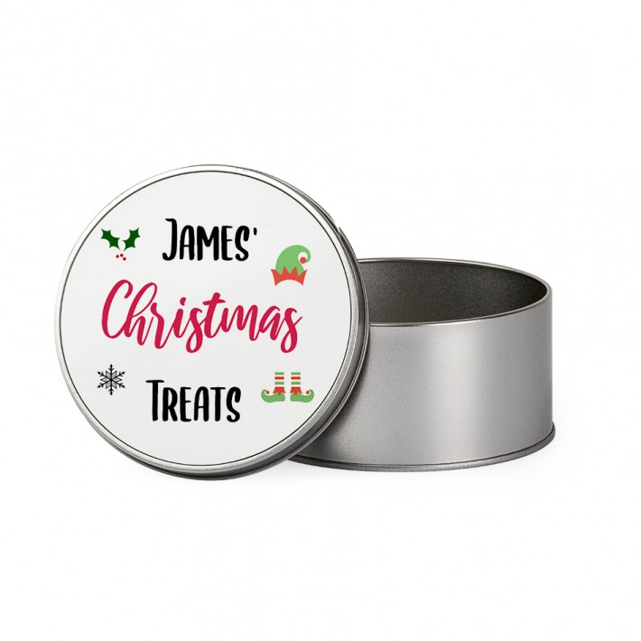 Personalised Tin Round - £6.95