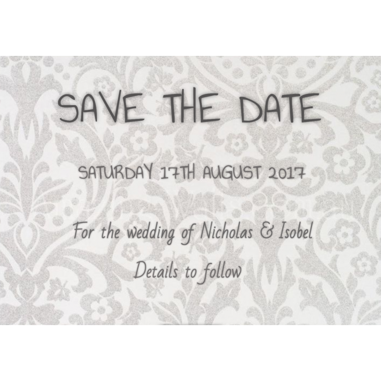 Luxury Save the Date Cards - Foil Lettering